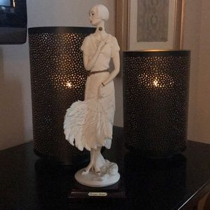 Giuseppe Armani White Flapper with Feather